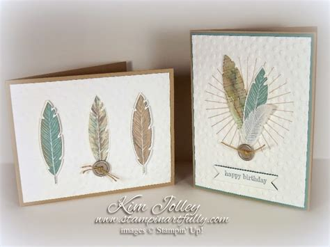 Stampin Artfully Fabulous Four Feathers