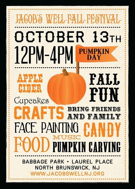 fall festival flyer template jacob s well nj gt pumpkin day fall festival 2014