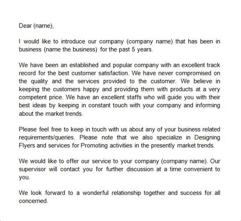 business introduction letter template business letter template introduction letter