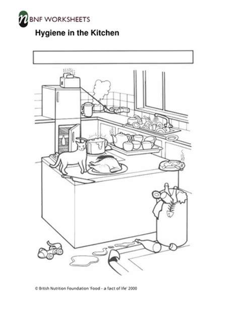 hygiene   kitchen worksheets teaching resources