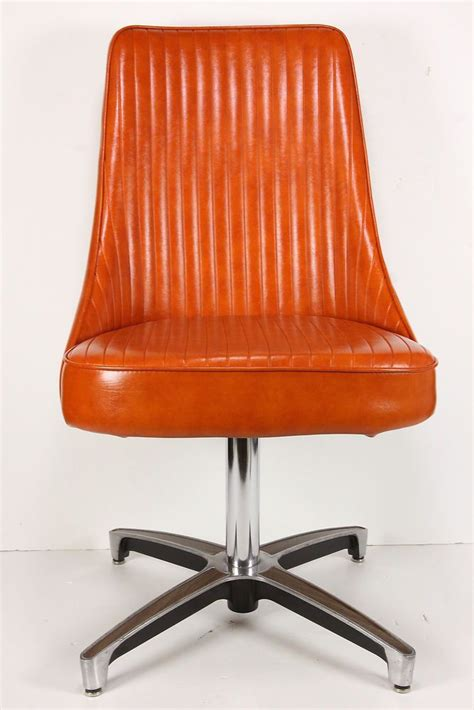 vintage mid century modern chromcraft swivel chair