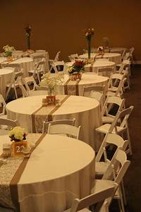 Fall wedding burlap and lace table runner simple for Simple table decoration ideas for great celebrations