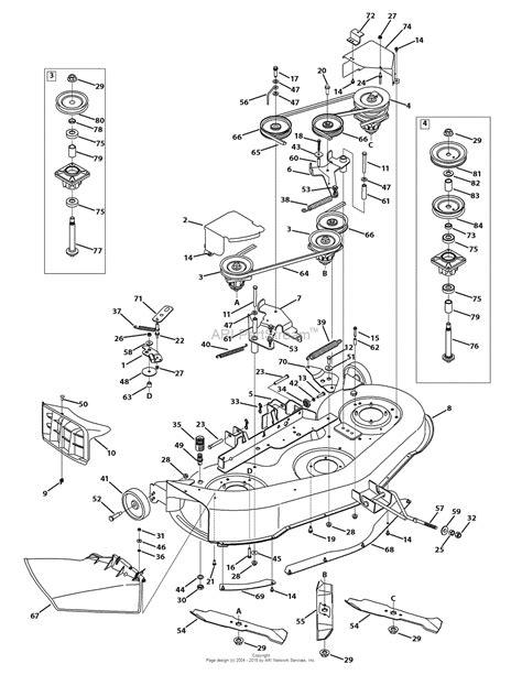 46 Inch Mtd Mower Deck Belt Diagram by Mtd 13bx775h031 2009 Parts Diagram For Mower Deck 46 Inch