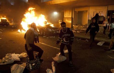 violencia en las calles de vancouver al perder en copa