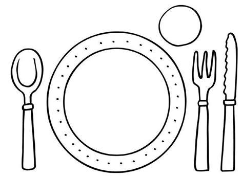 Kleurplaten Eten En Drinken Peuters by Kleurplaat Bord En Bestek Het Restaurant Peuter Thema
