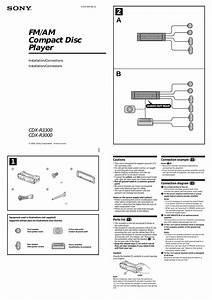 Sony Cdx R3000 Car Radio Wiring Diagram
