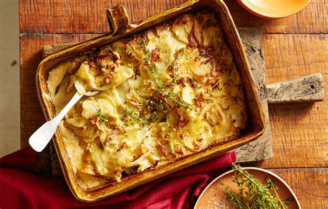 bacon potato  leek bake recipe  homes  gardens