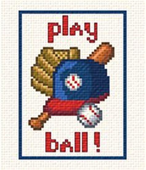play ball cross stitch pattern sports