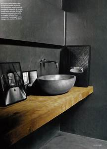 salle de bain grise deco design avec beton gris anthracite With salle de bain design avec vasque en beton