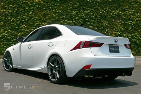 lexus isf white spotted white 3is f sport with exhaust rims driving
