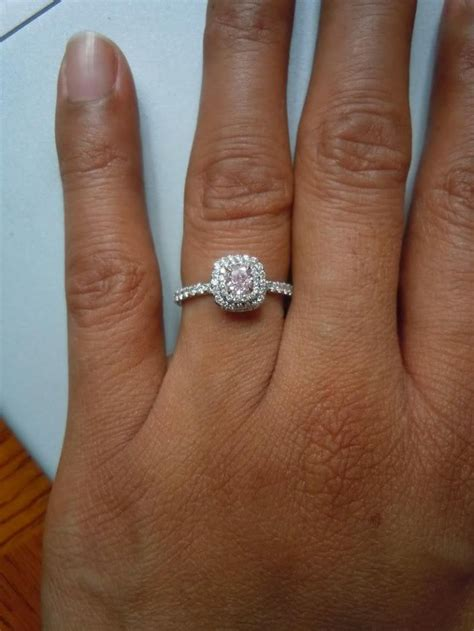 halo engagement ring with wedding band in 38