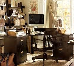 Pottery Barn Printers Corner Desk by All Home Office Furniture Pottery Barn