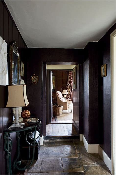 hallway painted in farrow mahogany no 36 modern