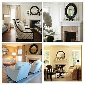 Mirror on the wall fireplace decorating ideas