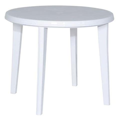 Weiße Runde Tische by Vollkunststoff Tisch Gartentisch Tisch Aus Kunststoff