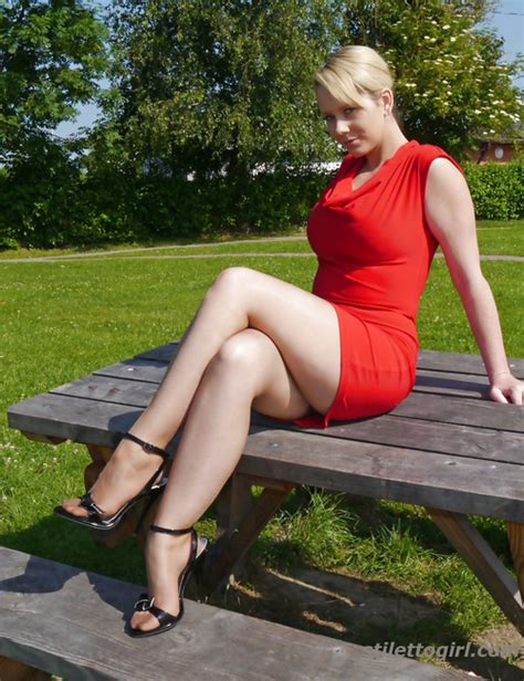 Hot Blonde Milf In High Heels