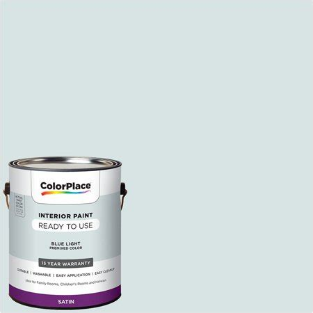 colorplace pre mixed ready to use interior paint blue light satin finish 1 gallon walmart com