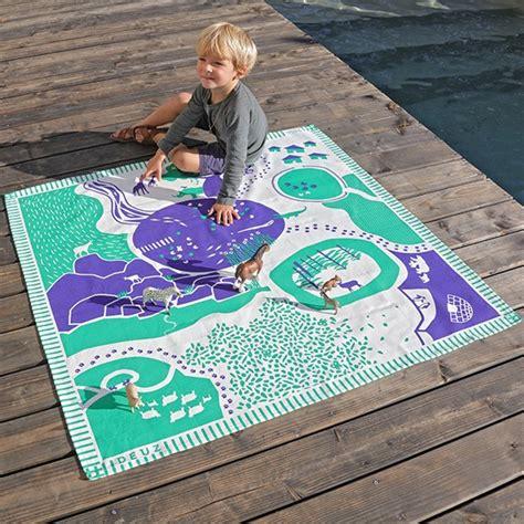 tapis de jeu pour enfants tapikid animaux desjoyaux
