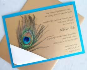 peacock wedding invitations peacock wedding invitation gold teal aqua ribbon navy