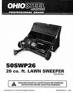 Ohio Steel 50swp26 1207018l User Manual Lawn Sweeper