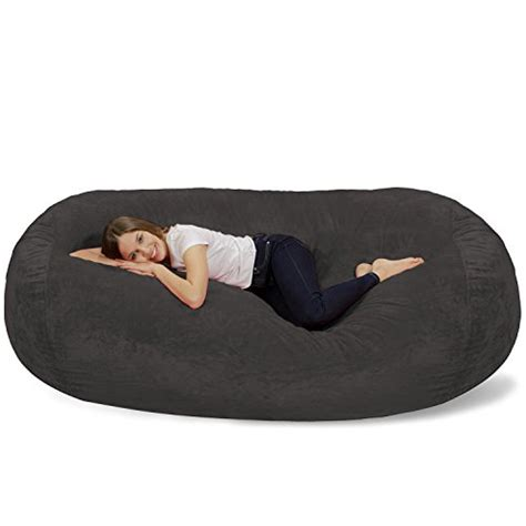chill bag bean bags bean bag lounger 7 5 grey
