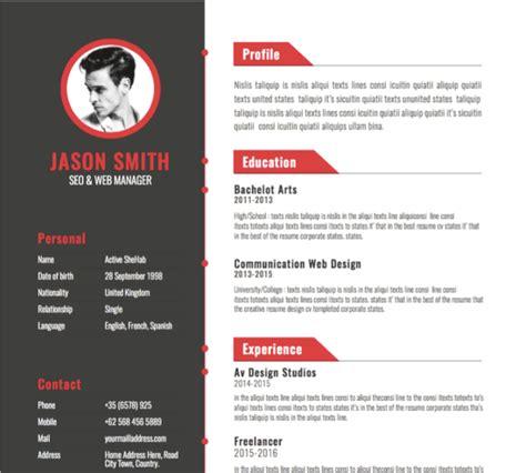 30 best free illustrator resume templates in 2019