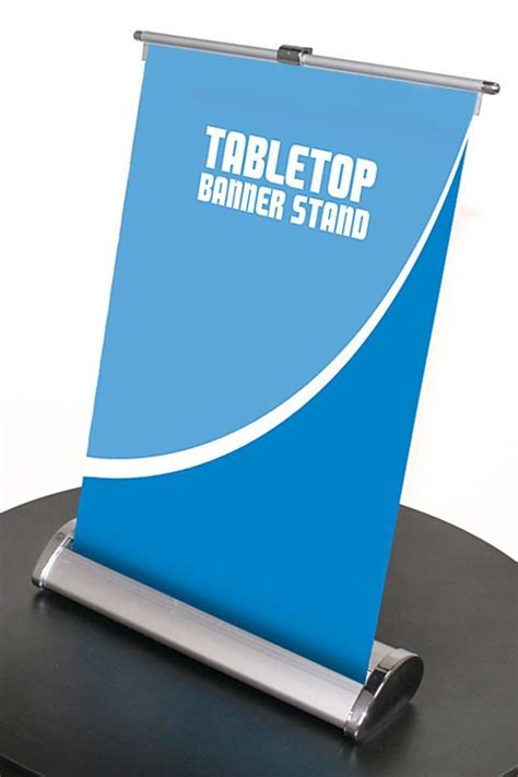 nimbus  table top retractable banner stand