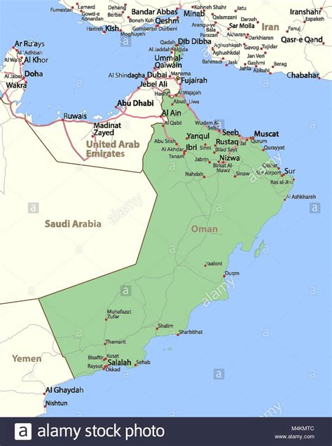 map  oman stock  map  oman stock images alamy