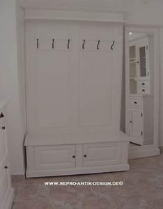 Garderobe Vintage Weiß : landhaus massivholz garderobe weiss vintage kolonial sitzbank wandgarderobe neu 559 entry ~ Sanjose-hotels-ca.com Haus und Dekorationen