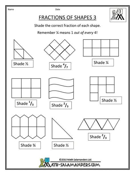 Fraction Shape Worksheets  Math  Fractions Worksheets, Fractions, Shapes Worksheets
