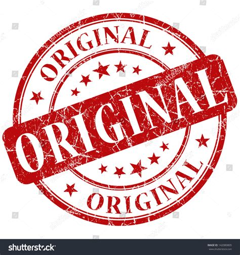 Original Stamp Stock Illustration 142089805 Shutterstock