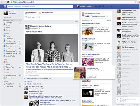 Facebook Testet Neues News Feed Design.