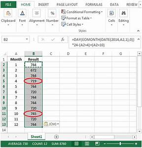 excel formula to calculate number of hours worked With template to calculate hours worked