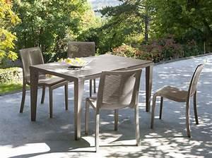 Table De Balcon Pas Cher : ensemble table et chaise de jardin pas cher mc immo ~ Teatrodelosmanantiales.com Idées de Décoration