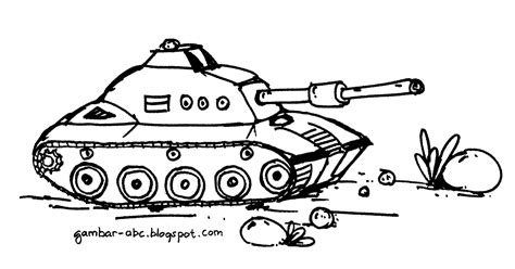 gambar mewarnai tank