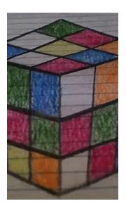 3D anamorphic cube drawing - YouTube