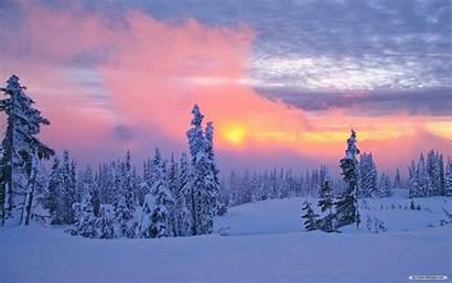 Winter Nature Wonderland Sunset Desktop Scenes Backgrounds