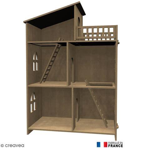 cuisine moleculaire kit maison de poupée en bois à décorer meuble miniature en bois creavea
