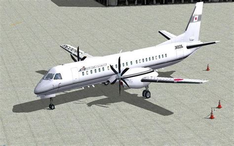 fs2004 civil aviation bureau saab 2000 by masato
