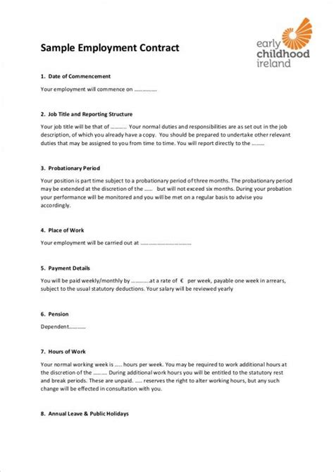 Employment Contract Template Uk Do You Know How Many People Show Up At Employment Contract