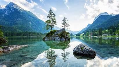 Mountains Germany Bavaria Lakes Lake