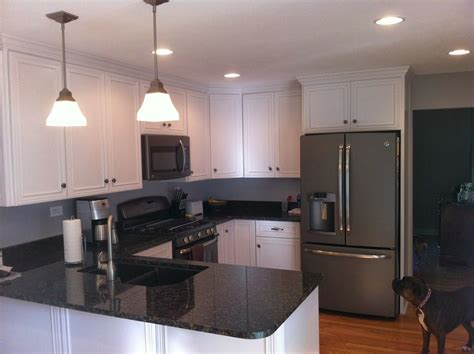 slate grey kitchen cabinets slate gray appliances in kitchen after granite counter 5318