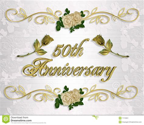 50th anniversary invitation stock image image 7172351 - 50 Wedding Anniversary