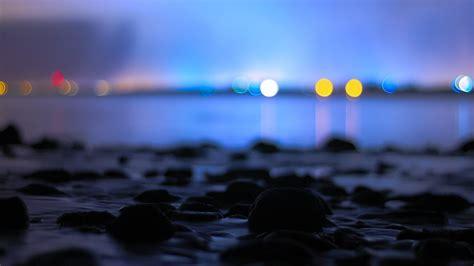 bokeh calm water sea night hd wallpapers desktop
