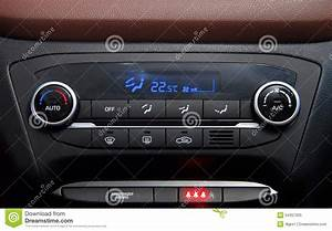 Automatic Car Air Conditioner Stock Image