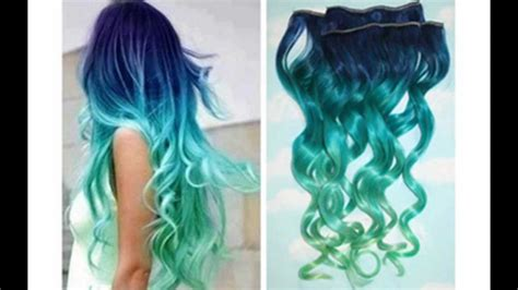 Ombre Mermaid Hair Tutorial/www.hairextensionsale.com
