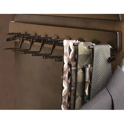 deluxe sliding tie rack rubbed bronze in tie and