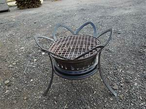 DIY Barbeque Grill Using Recycle Car Wheels