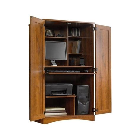 Home Office Armoire by Computer Armoire Wood Desk Workstation Cabinet Home Office