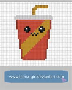 Cute Food Pixel Art Minecraft Grid